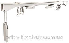1-но рядный металлический карниз для штор CKS с ручным управлением
