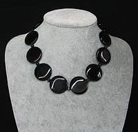 Красивое ожерелье из кошачьего глаза Черный перелив