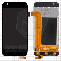 Дисплейный модуль для мобильных телефонов Fly IQ4405, черный, оригинал, 39 pin