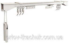 1-но рядный усиленный металлический карниз для штор CCS с ручным управлением