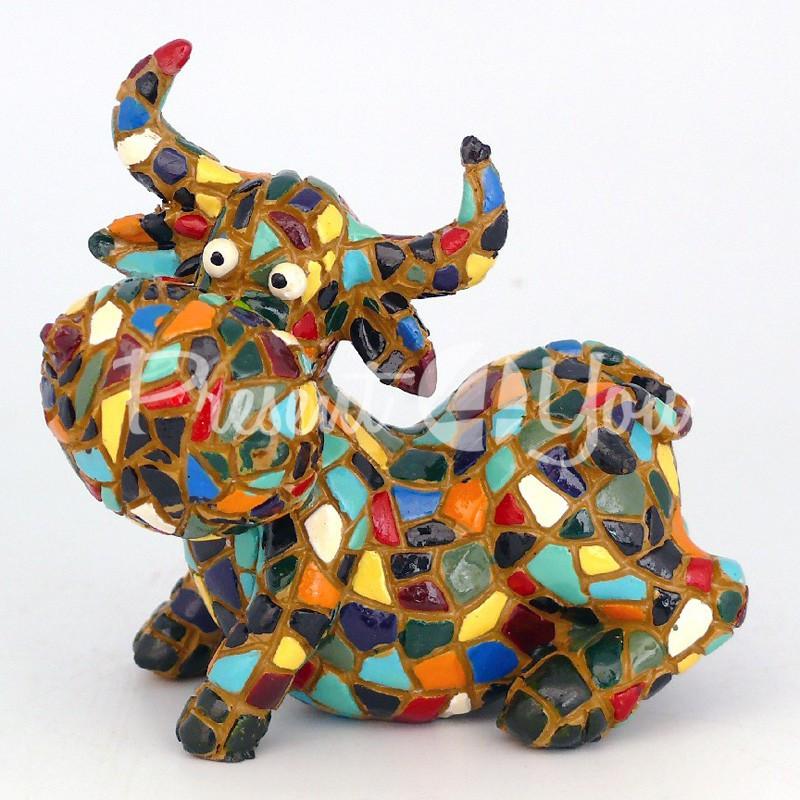 Фигурка в стиле Антонио Гауди «Корова», h-9 см.