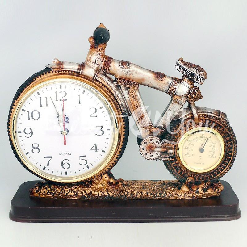 Часы с термометром «Велосипед», 23х29х10 см.