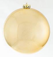Шар d-15 cм  золотой блестящий