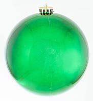 Шар d-15 cм  зеленый блестящий