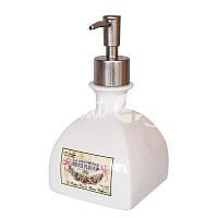 Дозатор для жидкого мыла керамический, h-16,5х9х9 см.