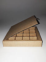 Коробка из крафт-картона для конфет, 185*185*30, фото 1