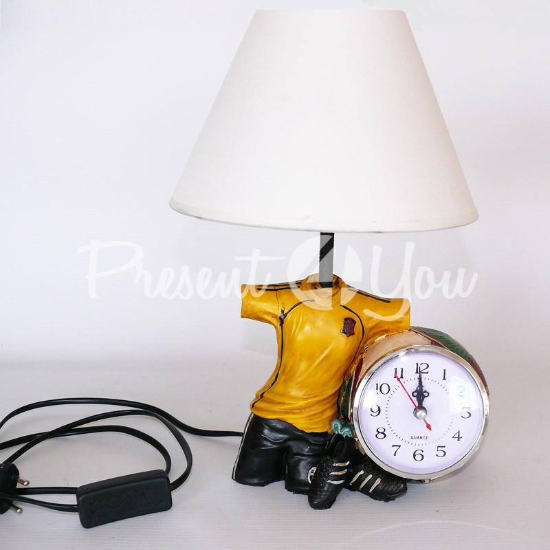 Настольный светильник с часами «Футболист», 33х10,5х18 см.