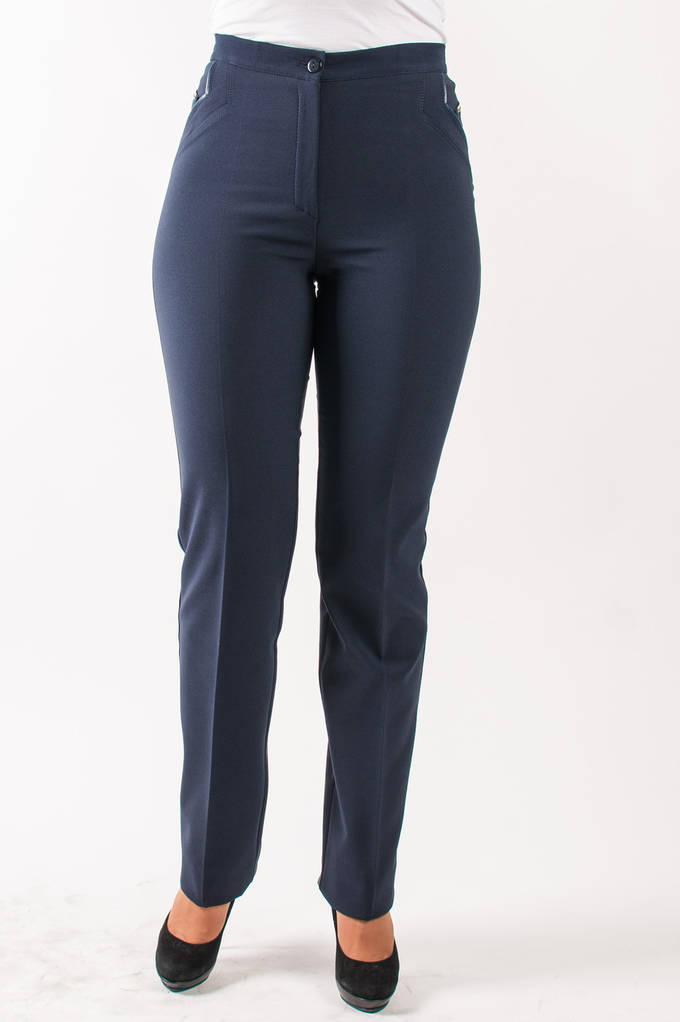 Молодежные брюки Катрин байка синие