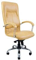 Кресло Никосия Хром Кожа Люкс Комбинированная Eclair (Richman ТМ)