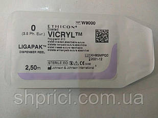 Викрил Ligapac фиолетовый (0) М 3.5, 2.5м, без иглыW9000Ethicon/ Johnson&Johnson