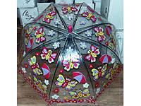 Детские прозрачные зонтики с животными
