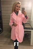 Женское пальто из кашемира на тонкой подкладке