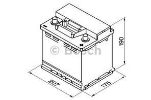 "Аккумулятор BOSCH S3 Silver 45Ah , EN400 , правый ""+"" , ( Bosch 0 092 S30 020 ) 207*175*190 (Д*Ш*В)"