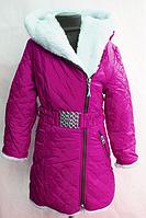 Зимнее пальто теплое для девочек от 122 до 140 см рост