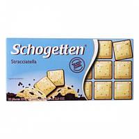 Шоколад Schogetten Stracciatella, молочный и белый шоколад с кусочками кофейных зёрен,100г