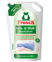 Жидкий био-порошок для шерсти и деликатных вещей FROSCH FEIN & WOLL WASCHBALSAM