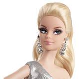 Кукла Barbie Look Сияние города Серебряное платье, фото 3