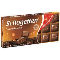 Молочный шоколад Schogetten карамельный брауни, 100г