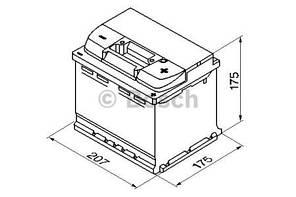 "Аккумулятор BOSCH S4 Silver 44Ah , EN440 , правый ""+"" , ( Bosch 0 092 S40 010 ) 207*175*190 (Д*Ш*В)"