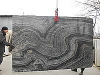 Мрамор Silwer Wave ( черный с серым)