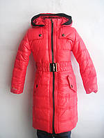 Детская/подростковая зимняя куртка-пальто для девочки, р. 122-152