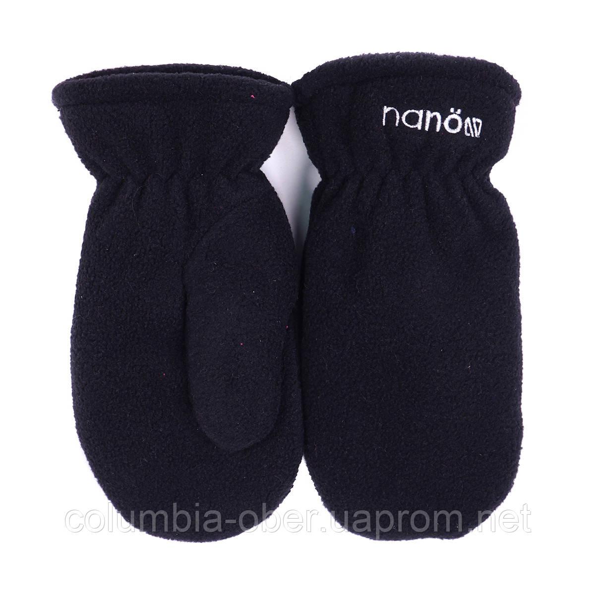 Зимние флисовые рукавицы для мальчика Nano 500 MITP F16 Black. Размер 12/24 мес -10/12.