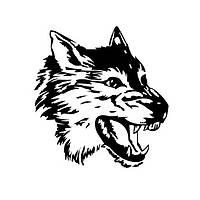 Наклейка на автомобиль Злой волк