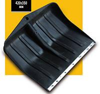 Лопата снегоуборочная пластиковая с накладкой (размер 420*350 мм)