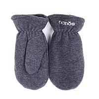 Зимние флисовые рукавицы для мальчика Nano 500 MITP F16 Gray Mix. Размер 12/24 мес -10/12.