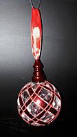 Эксклюзивные новогодние игрушки 2017 огненный шар (стекло)