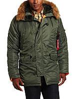 Куртка Alpha Industries Men's N-3B Slim Fit Sage/Orange, фото 1