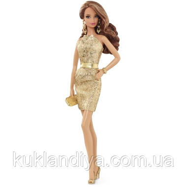Лялька Barbie Look Сяйво міста Золоте плаття