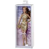Лялька Barbie Look Сяйво міста Золоте плаття, фото 5