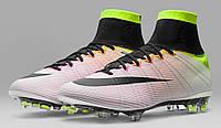 Футбольные бутсы Nike Mercurial Superfly Radiant Reveal FG (найк, найк меркуриал суперфлай) белые