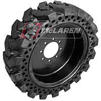 Полупневматическая шина 33x12-20 (замена 12x16.5) McLaren на диске для минипогрузчиков. Низкий профиль шины.