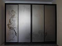 Шкаф-купе А-3002 Размер 3000*600*2400мм зеркало графит, фото 1