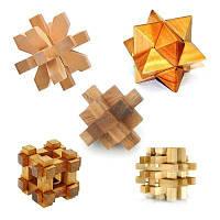 Набор из 5 деревянных голволомок IQ-пазл, фото 1