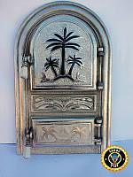 Дверца для печи и барбекю Оазис, дверка печная со стеклом