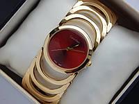Женские кварцевые наручные часы Calvin Klein c красным циферблатом