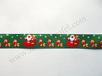"""Лента для декора """"Санта клаус в санях"""" h-2.5см"""