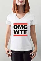"Женская футболка ""OMG WTF"""