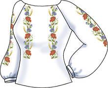 СВЖБ-48. Заготовка Жіноча сорочка лляна біла