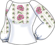 СВЖБ-49. Заготовка Жіноча сорочка лляна біла