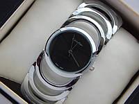 Элегантные женские наручные часы Calvin Klein cеребро с черным циферблатом, фото 1
