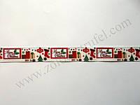 "Лента для декора ""Merry Christmas"" h-2.5см"