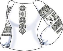 СВЖБ-50. Заготовка Жіноча сорочка лляна біла