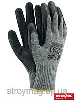 Перчатки черные прорезиненые