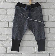 Штаны унисекс с накладной деталью, синий рябчик. Размеры: 86 см, фото 1
