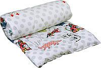 Одеяло силиконовое 140х205 демисезонное (ткань сатин) Котята