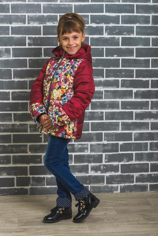 0565825a8ca81 Куртка для девочки зимняя бордо - Интернет-магазин